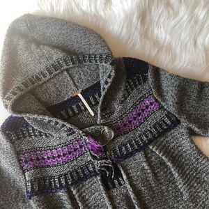Free People Hooded Swing Cardigan Sweater
